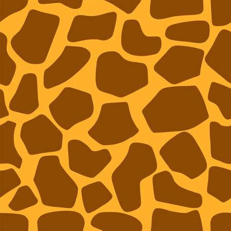 Illustration vectorielle de girafe modèle sans couture Eps10. Ornement de texture de peau d'animal. Fond africain de zoo de safari.