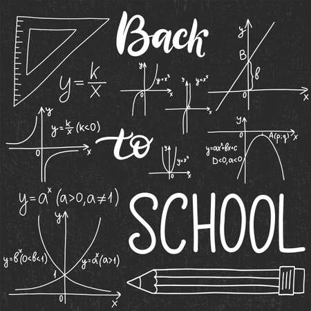 Education pattern with math formulas, equations and scientific theory calculations. EPS10 back to school theme vector hand drawn illustration 일러스트