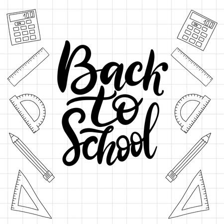 Education pattern with math formulas, equations and scientific theory calculations. EPS10 back to school theme vector hand drawn illustration Illustration