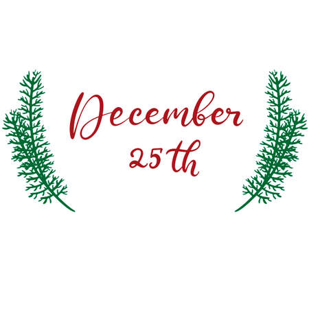 Merry Christmas and happy new year lettering vector illustration. Calligraphic Inscription for december holidays for banners, greeting cards, invitation, gifts, wrapping paper. EPS10