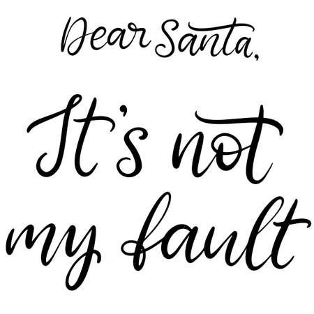 Feliz Navidad y próspero año nuevo letras ilustración vectorial. Inscripción caligráfica para las vacaciones de diciembre para pancartas, tarjetas de felicitación, invitaciones, regalos, papel de regalo. EPS10