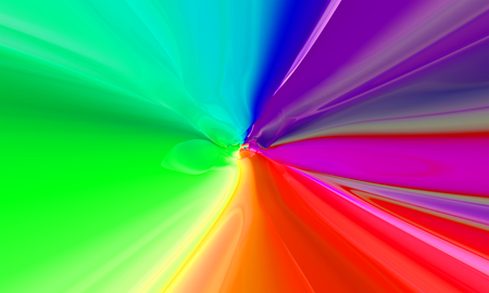 tunnel vision: Colorful abstract background. 3D rendering.