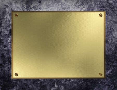 gold metal: Gold plate on grunge metal background.