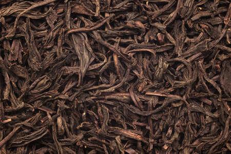pekoe: The black leaf tea. Photographed close-up.