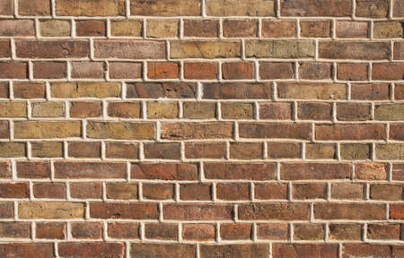 build in: Wall of brickstones, Part of a building,  build in the late 18th century Stock Photo