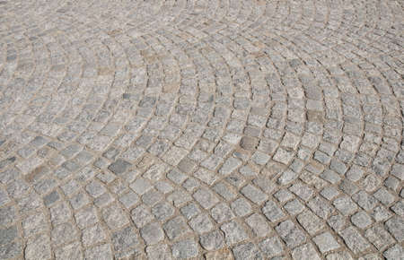 Pavement of granite cubes in a small german town photo