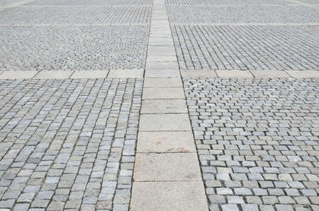 Pavement of Granite in the city of Berlin, Germany. photo