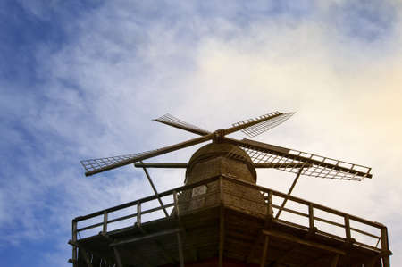 Old windmill on the island Bogoe, Denmark photo