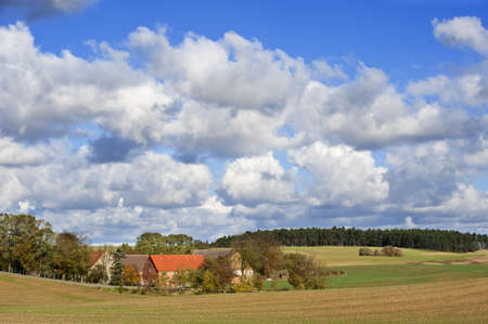 Old farm in the german federal state Mecklenburg-Vorpommern (Germany) near the river Oder. Stock Photo