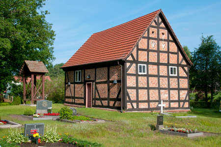 The church of the village Zirtow in Mecklenburg, Germany photo