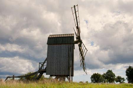oland: Windmill on the swedish island Oland Stock Photo