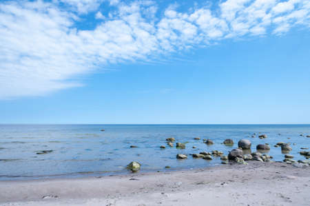 oland: On the east coast of the island of Oland, Sweden, in the Baltic Sea  Empty beach and unspoilt nature