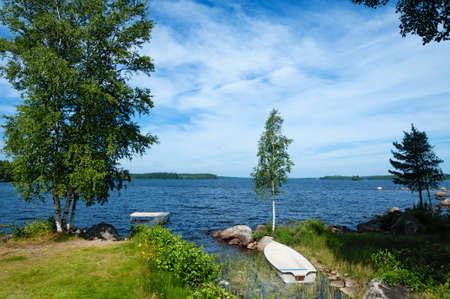 The lake Innaren, Sweden, in summer photo