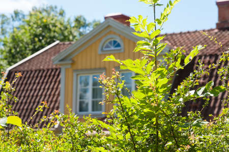 Yellow wooden house in Smaland, Sweden
