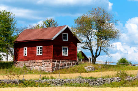 Farm in the country side of southern Sweden, Småland, near  Ingatorp, in the highlands of Småland.
