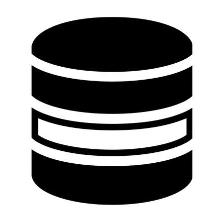 Database icon vector Çizim