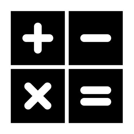 vector calculator icon Illustration