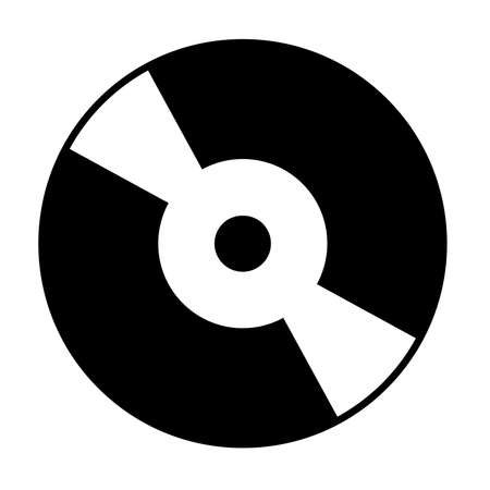 compact disc icon on white background