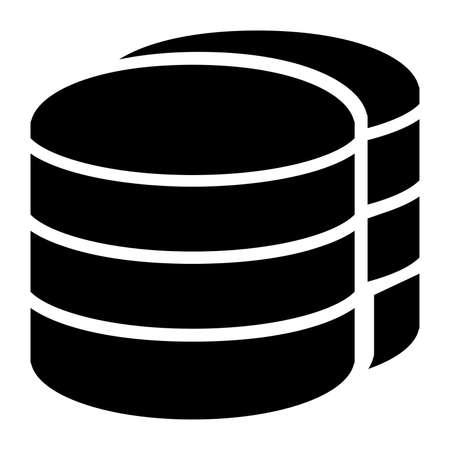Database icon vector Illustration