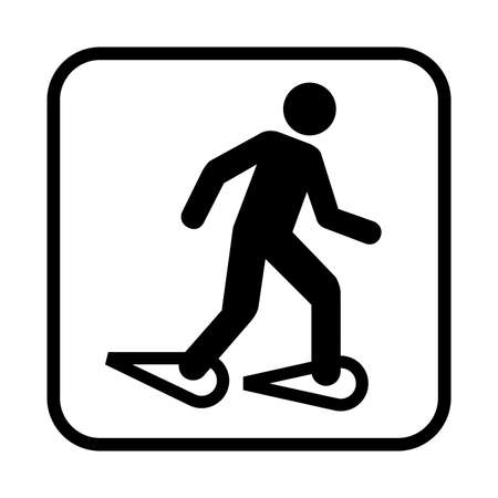 Snowshoeing icon. Flat vector illustration isolated on white background. Foto de archivo - 110373015