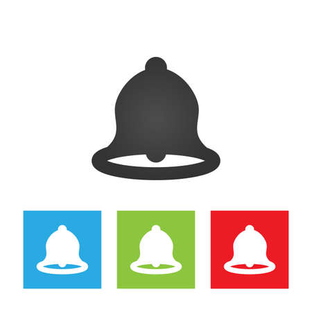 Bell icon. Simple logo of bell on white background. Flat vector illustration. Illustration