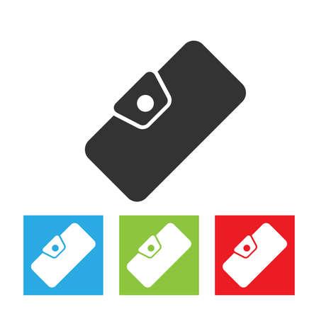 Icône de portefeuille. Signe de portefeuille de femme. Logo simple de portefeuille sur fond blanc. Illustration vectorielle plane.