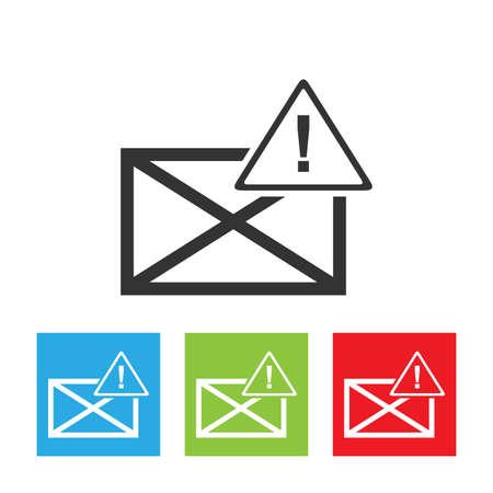 Envelope icon with emergency symbol. Envelope simple logo isolated on a white background. Flat vector illustration. Reklamní fotografie - 110373469