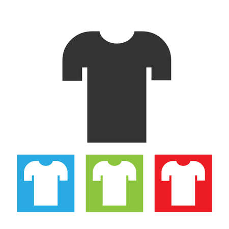 Shirt icon. Simple abstract logo of shirt without sleeves on white background. Flat vector illustration.