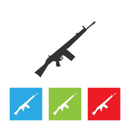 Rifle icon. Gun sign. Simple logo of rifle on white background. Flat vector illustration.