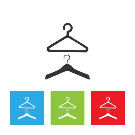 Hanger icon. Hanger simple logo isolated on white background. Flat vector illustration.