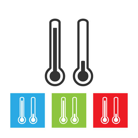 Thermometer icon. Abstract logo of thermometer isolated on white background. Flat vector illustration.