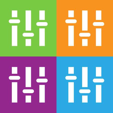 Equalizer icon. Simple logo of equalizer on white background. Flat vector illustration.