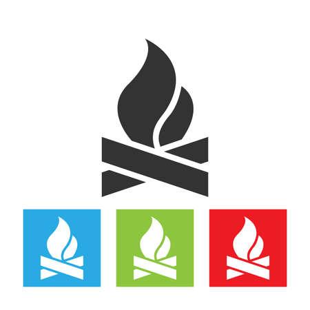 Bonfire icon. Bonfire simple logo isolated on white background. Flat vector illustration. Archivio Fotografico - 110376276