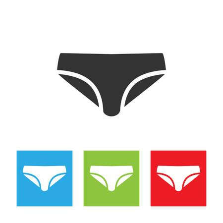 Bikini icon. Simple logo of bikini isolated on white background. Flat vector illustration. 向量圖像