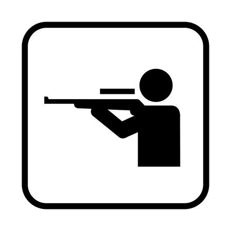 Shooting range icon. Flat vector illustration isolated on white background.