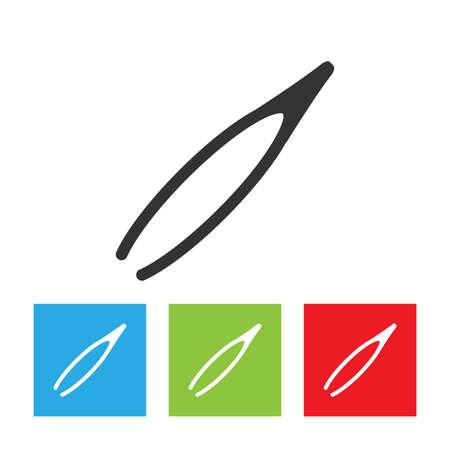 Tweezers icon. Simple logo of tweezers on white background. Flat vector illustration. Illusztráció