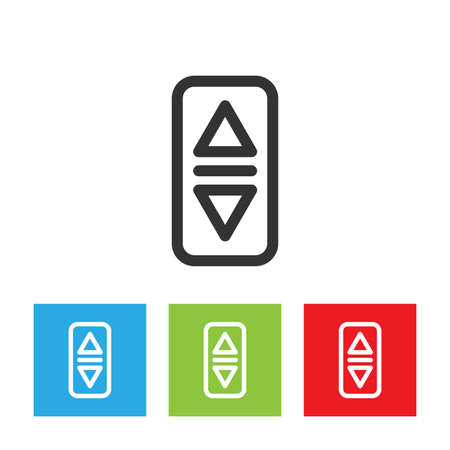 Elevator or lift buttons icon. Simple logo of elevator buttons isolated on white background. Flat vector illustration.