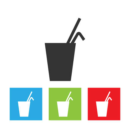 Soft drink icon. Simple logo isolated on white background. Flat vector illustration.