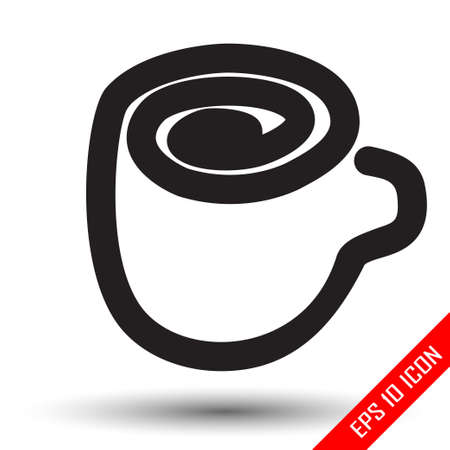 Coffee cup icon. Mug of coffee flat icon. Coffee logo. Flat icon of Coffee cup. Vector illustration.