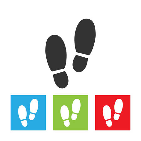 Man footprints icon. Simple logo of footprints isolated on white background. Flat vector illustration. 일러스트