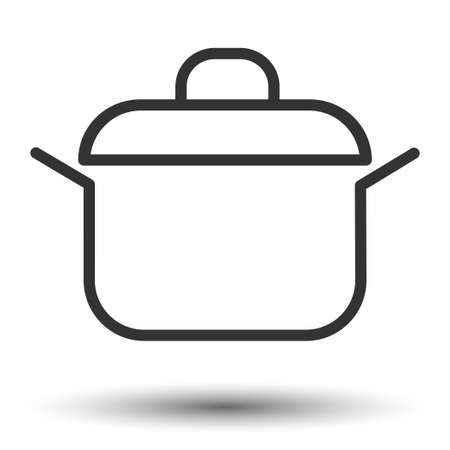 Pan icon. Kitchen pan flat icon. Vector illustration. Иллюстрация