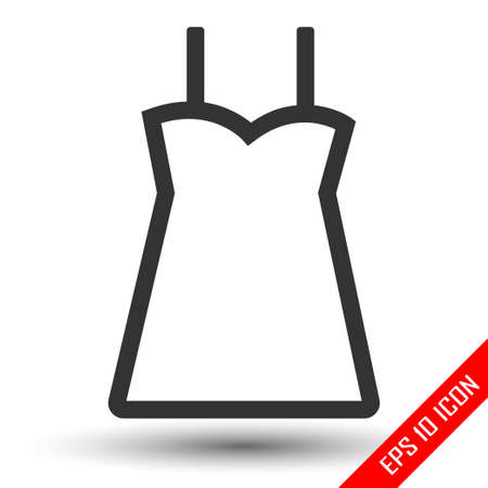 Dress icon. Flat icon of dress. Dress EPS. Vector illustration. Ilustração