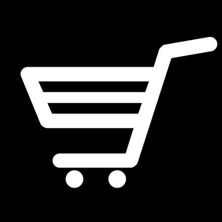 Cart for shopping. Cart logo isolated on a white background. Flat vector illustration.