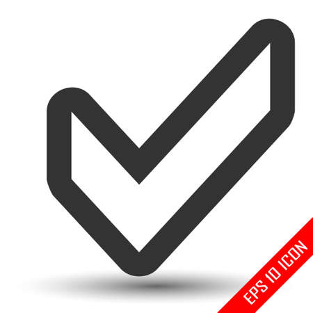 Confirm icon. Check mark simple logo. Vector illustration of the check mark isolated on a white background. Illustration