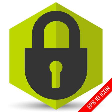 Lock icon. Flat icon of lock. Lock EPS. Vector illustration.