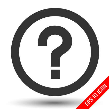 Question mark icon. Question Sign. Flat illustration of question sign. Question sign logo isolated on white background. Vector illustration.