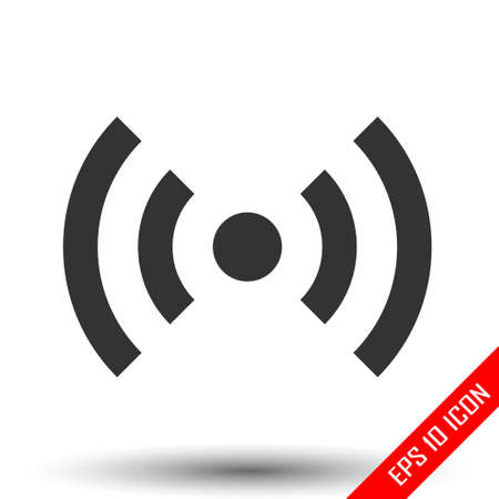 Wi-Fi icon. Simple flat logo of wi-fi zone sign on white background. Vector illustration.