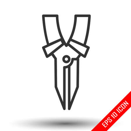 Hand tool. Vector illustration pliers on white background. Nippers. Worker equipment. Pliers flat icon.