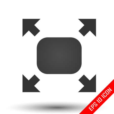 Fullscreen sign icon. Simple flat logo of fullscreen sign on white background. Vector illustration. Ilustração