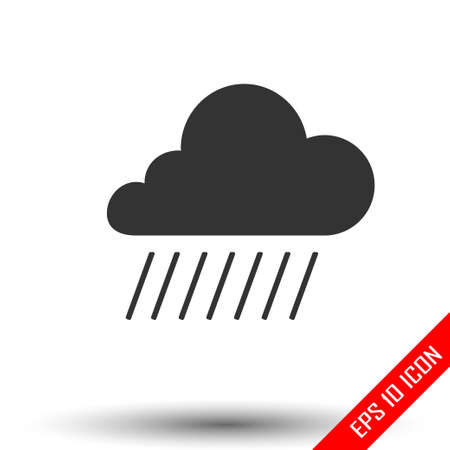 Cloud icon. Simple flat logo of cloud isolated on white background. Vector illustration.